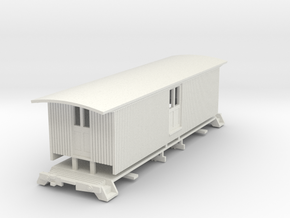 HOn3 30ft Baggage Car B (no windows) in White Strong & Flexible