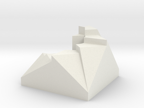 CrazyStairPaperweight V1 in White Strong & Flexible