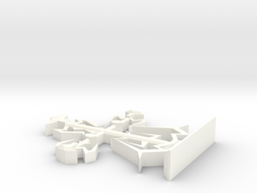 Intricate Medieval Cross Small in White Strong & Flexible Polished