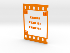 FILM ERROR FEHLER ERREUR in Orange Strong & Flexible Polished