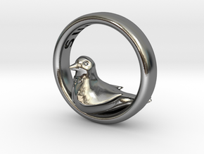Reverse Bird Ring in Polished Silver