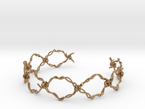 BARBED-WIRE in Polished Brass