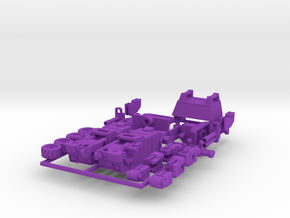 OUTLAND - transforming to robot from off load car in Purple Strong & Flexible Polished