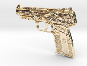 FN Five Seven 5,7mm x 28mm in 14K Gold