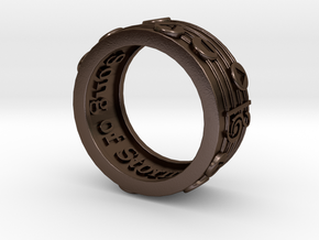 Ring - Song of Storms (Size 13) in Polished Bronze Steel