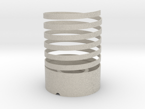 Helical Table Lamp in Sandstone