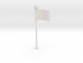 Blastcharge Strika Flag in White Strong & Flexible