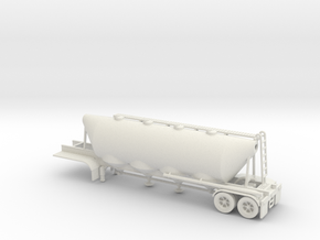 HO 1/87 Dry Bulk Trailer 01 (bigger tank) in White Strong & Flexible