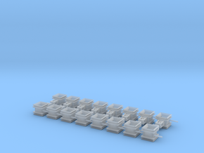 Guide Chute for Rail Train- 16 pc. in Frosted Ultra Detail