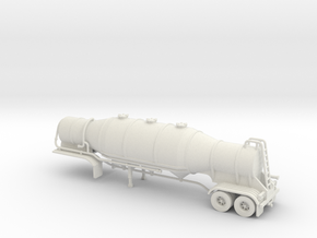 HO 1/87 Dry Bulk Trailer 08b 1000 Cube Super Flo in White Strong & Flexible
