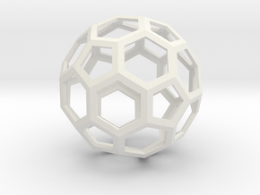 Leonardos Icosahedron in White Strong & Flexible