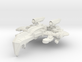 WarCrow Class AssaultCruiser -small- in White Strong & Flexible