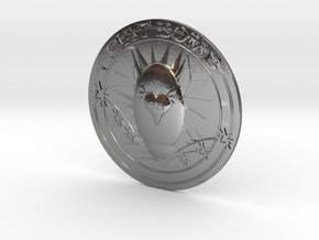 Fiat Bomb Silver Coin in Polished Silver