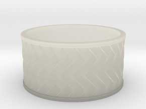 Woven Ring in White Strong & Flexible