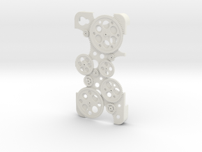 "Iphone 4 ""Cogwheels"" in White Strong & Flexible"