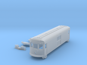 N Scale 45' Trolley Freight Box Motor Body + Parts in Frosted Ultra Detail