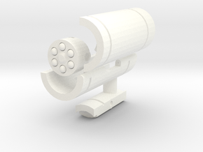Waves of Sound Weapon - Missile Launcher in White Strong & Flexible Polished