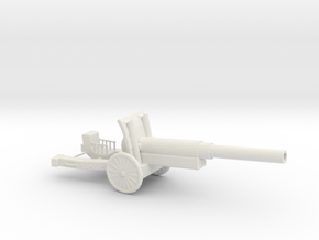 WW2 Cannon (Small size) in White Strong & Flexible