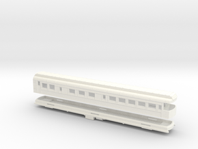 Z Scale Pullman Heavyweight Observation Car in White Strong & Flexible Polished