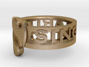 SU2013 Ringsize5 5 in Polished Gold Steel
