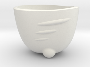 Espresso Shot SpaceShip Cup (no frame) in White Strong & Flexible