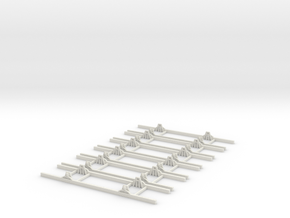 OO9 Underframe 10ft wb x6 in White Strong & Flexible