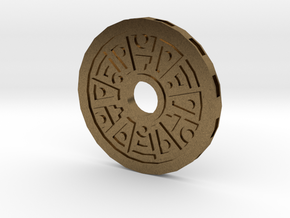 Star Coin in Raw Bronze