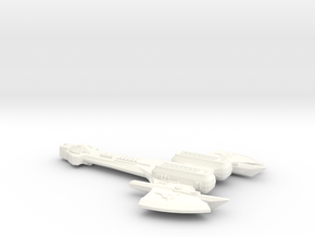K'Bash Class Klingon Fighter in White Strong & Flexible Polished