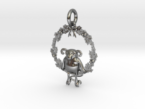 Krampus the Yule Lord in Polished Silver