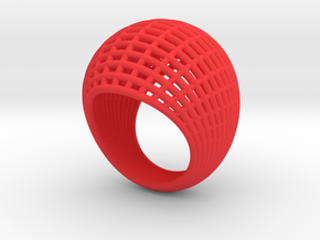 Wire Ring 2 in Red Strong & Flexible Polished