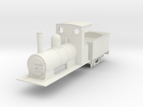 O9 Small estate loco and tender in White Strong & Flexible