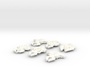 Cardassian Six Pack in White Strong & Flexible Polished