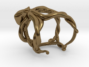 Octopus Ring in Polished Bronze