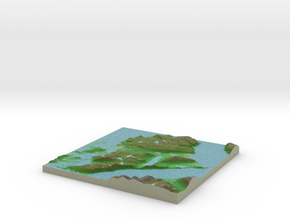 Terrafab generated model Wed Oct 02 2013 12:44:46  in Full Color Sandstone