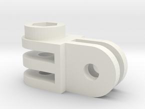 GoPro mounting part 90 degrees angle in White Strong & Flexible