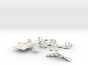HO scale K class detail parts in White Strong & Flexible