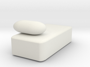 day bed 3 in White Strong & Flexible
