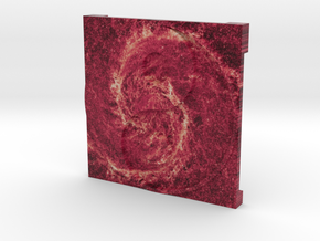 Whirlpool Galaxy over Ying Yang in Full Color Sandstone