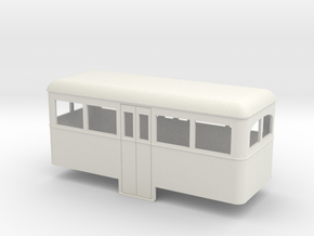 1:32/1:35 railbus Passenger trailer   in White Strong & Flexible