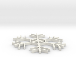 Amazing Snowflake Doily  in White Strong & Flexible