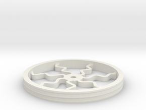 100mmFloppyBotWheel-04 in White Strong & Flexible