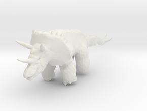 triceratops_02 in White Strong & Flexible