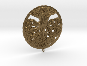 Tree of Life Pendant in Raw Bronze