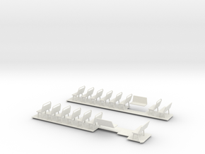 1:43 Bristol Bus Floor & Seats in White Strong & Flexible