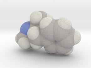 Methamphetamine molecule (x40,000,000, 1A = 4mm) in Full Color Sandstone