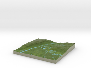 Terrafab generated model Thu Nov 07 2013 12:01:47  in Full Color Sandstone