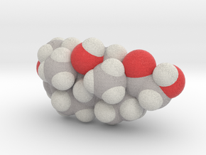 Cortisol molecule (x40,000,000, 1A = 4mm) in Full Color Sandstone