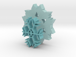 Snowflake Coasters in Full Color Sandstone