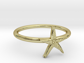 World's Best Starfish Midi Ring in 18k Gold