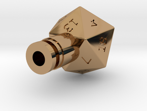 D20 Drip Tip in Polished Brass